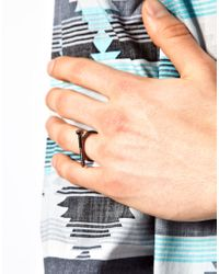 ASOS - Metallic Ring with Screw for Men - Lyst