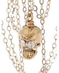 Clemmie Watson - Metallic Skull Crosses Earrings - Lyst