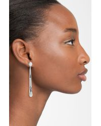 John Hardy | Metallic Bamboo Long Drop Earrings | Lyst