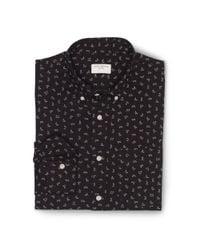 Club Monaco   Black Slimfit Printed Edward Shirt for Men   Lyst