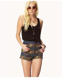 Forever 21 | Brown Self-tie Elephant Crop Top | Lyst