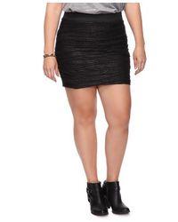 Forever 21 - Black Wavy Stripes Metallic Skirt - Lyst