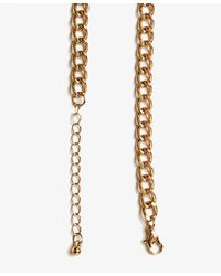 Forever 21 - Metallic Cutout Curved Bib Necklace - Lyst