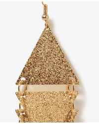 Forever 21 - Metallic Stacked Triangle Earrings - Lyst