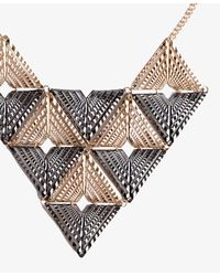 Forever 21 - Metallic Colorblocked Geo Bib Necklace - Lyst