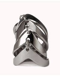 Forever 21 - Metallic Chevron Knuckle Ring - Lyst
