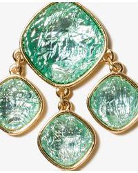 Forever 21 - Green Faux Stone Chandelier Earrings - Lyst