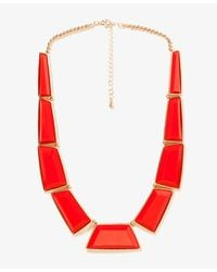 Forever 21 - Red Faceted Faux Stone Necklace - Lyst