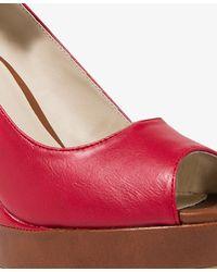 Forever 21 | Red Contrast Platform Wedges | Lyst