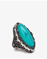 Forever 21 - Blue Etched Faux Turquoise Ring - Lyst