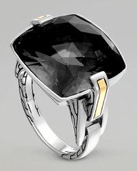John Hardy | Metallic Classic Chain Silver Hematite Ring | Lyst