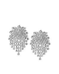 Kenneth Jay Lane | Metallic Swarovski Crystal Clip Earrings | Lyst