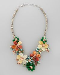 Nakamol | Multicolor Iridescent Beaded Flower Necklace | Lyst