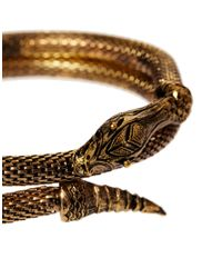 River Island - Metallic Snake Arm Cuff Bracelet for Men - Lyst