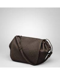 bd065beaf5 Bottega Veneta Ebano Intrecciato Nappa Cross Body Bag in Black - Lyst