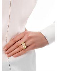 Chloé | Metallic Bettina Embellished Rectangular Resin Ring | Lyst