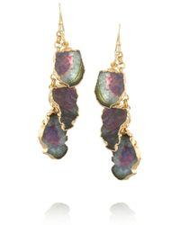 Dara Ettinger - Green Candi Goldplated Tourmaline Earrings - Lyst