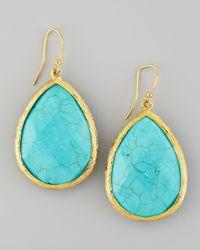 Panacea - Blue Turquoise Teardrop Drop Earrings - Lyst