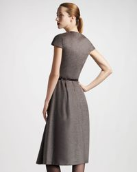 The Row - Gray Aline Dress - Lyst