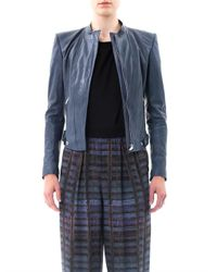 Theyskens' Theory Blue Nomi Janner Leather Jacket