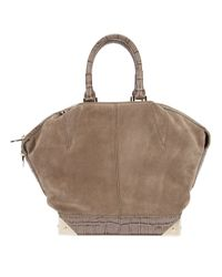Alexander Wang   Brown Python Effect Tote   Lyst