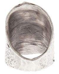 Alice Waese - Metallic Tall Barking Ring for Men - Lyst
