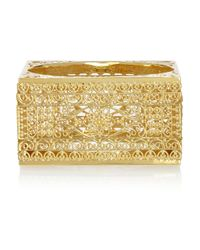 Isharya - Metallic Gold-Plated Filigree Bangle - Lyst