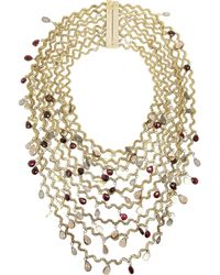 Rosantica - Metallic Onde Golddipped Multistone Necklace - Lyst