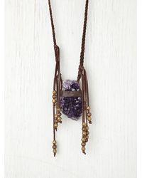 Free People | Purple Vagabond Necklace | Lyst
