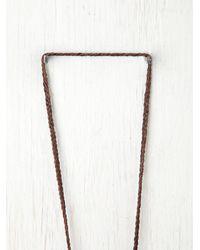 Free People - Purple Vagabond Necklace - Lyst
