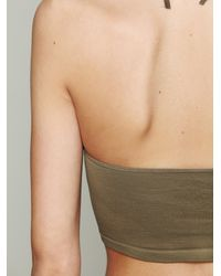 Free People - Green Halter Seamless Bra - Lyst