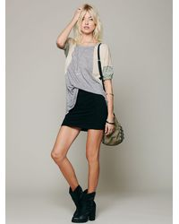 Free People - Black High Waisted Scrunch Skirt - Lyst