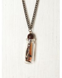 Free People | Brown Trapped in A Bottle Necklace | Lyst