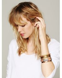 Free People - Pink Tropical Hard Bangle Set - Lyst