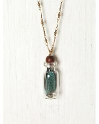 Free People - Metallic Trapped in A Bottle Necklace - Lyst