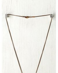 N/a - Brown Chakra Necklace - Lyst