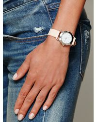 Free People - White Feather Print Leather Watch - Lyst