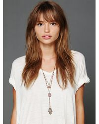 Free People - Purple Double Layer Rosary - Lyst