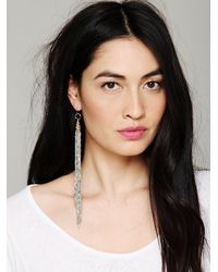 Vanessa Mooney - Metallic Chain Fringe Earring - Lyst