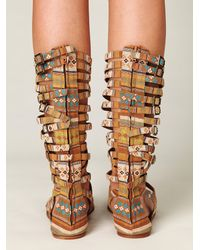 Free People | Brown Romana Fest Sandal | Lyst