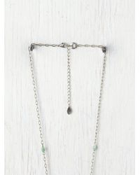Free People - Blue Double Layer Rosary - Lyst