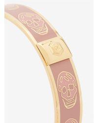 Alexander McQueen - Pink Enamel Skull Bangle - Lyst