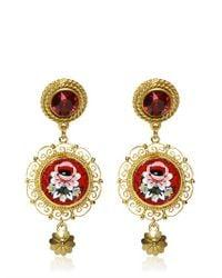 Dolce & Gabbana - Metallic Micro Mosaic Clip Earrings - Lyst