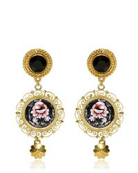 Dolce & Gabbana | Metallic Micro Mosaic Clip Earrings | Lyst