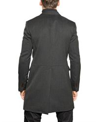 DSquared² - Gray Mississippi Military Wool Drill Coat for Men - Lyst