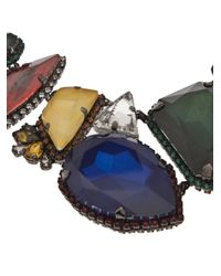 Erickson Beamon - Multicolor Oxidized Colored Stone Necklace - Lyst