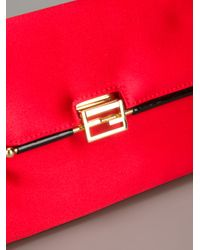Fendi - Red Logo Detail Clutch - Lyst