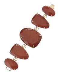 Kendra Scott - Metallic Fivestation Epoxy Bracelet Goldstone - Lyst
