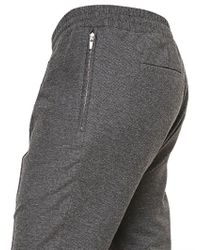 Kris Van Assche - Gray Cottonwool Melange Jersey Trousers for Men - Lyst