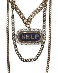 Lanvin | Multicolor Gloria Help Removable Brooch Necklace | Lyst